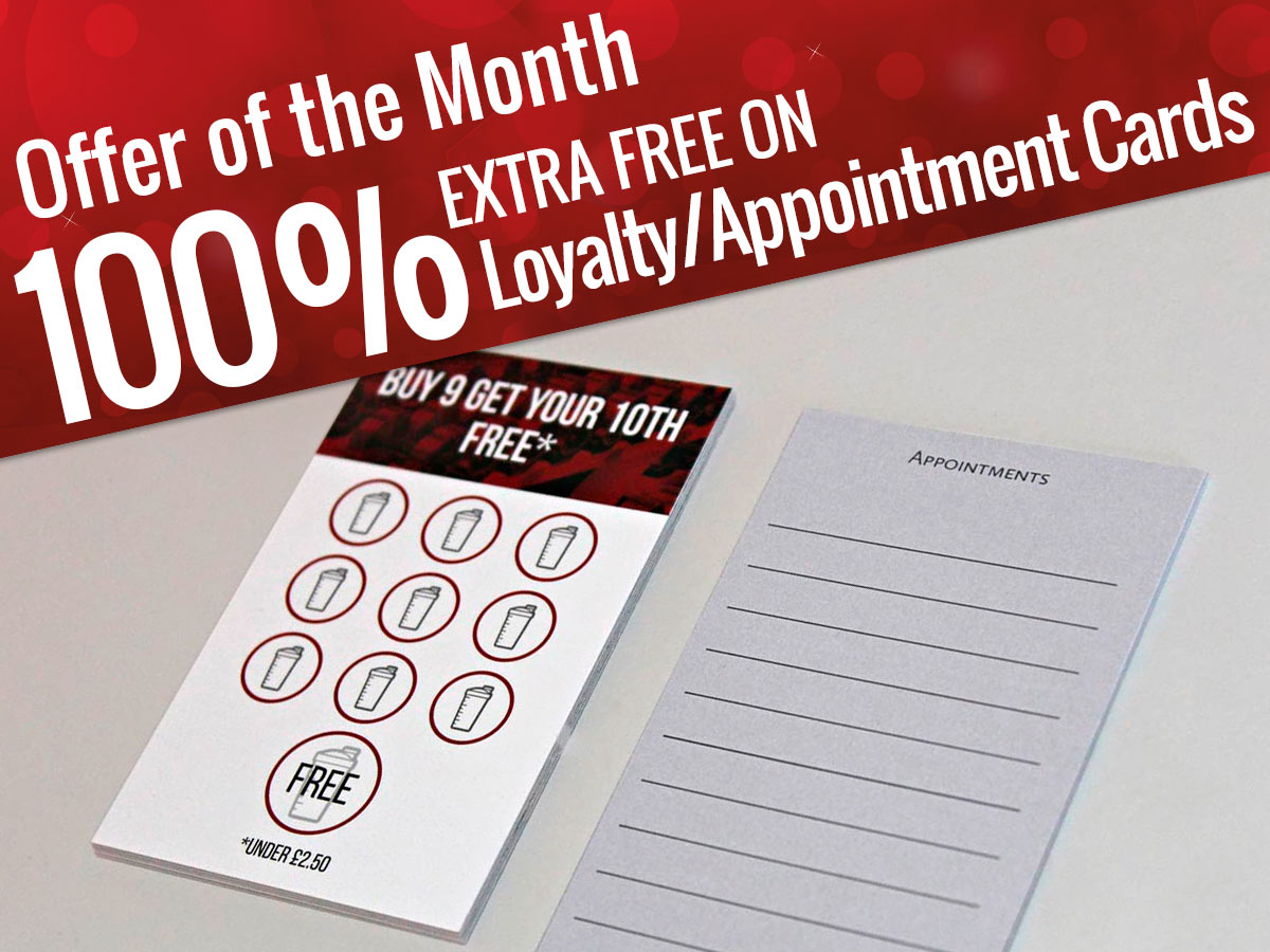 Loyalty Appointment Cards - - Offer of the Month
