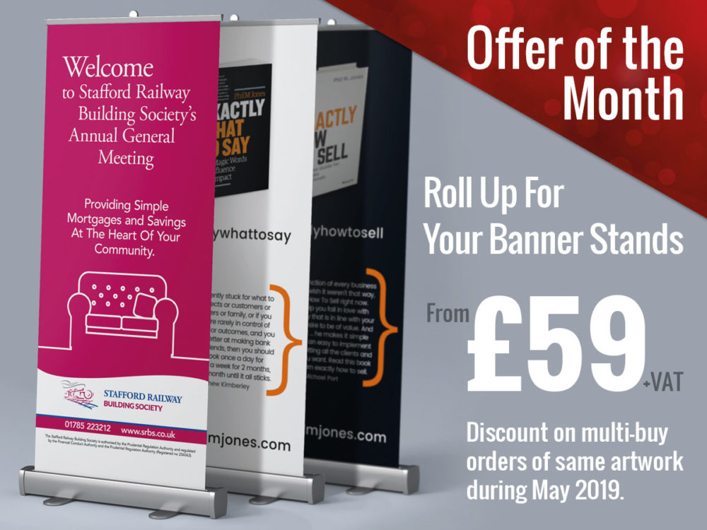 Rollup Banners Special Offer at Swinford Graphics
