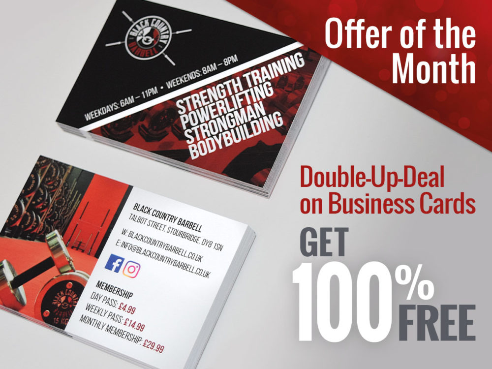 Business Cards Offer of the Month 100% FREE